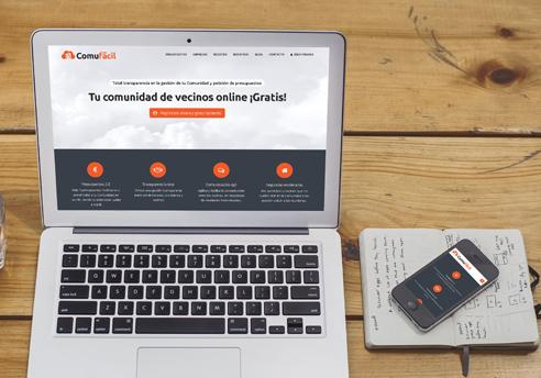 Disseny de la pàgina web i aplicació mòbil per Comufácil