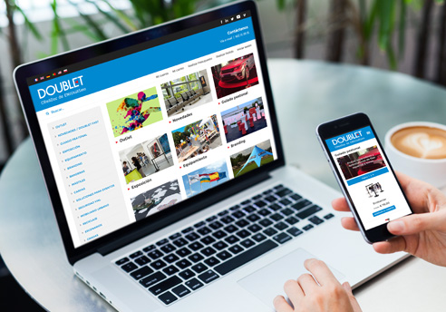 Disseny Web de la botiga en línia responsive de Doublet