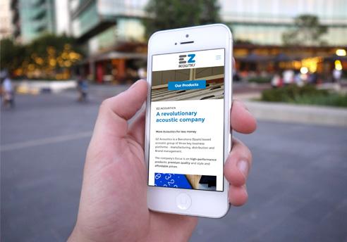 Disseny de la pàgina Web en WordPress per a l'empresa EZ Acoustics
