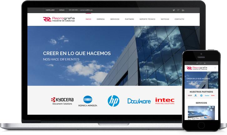 Disseny de la pàgina Web en WordPress per a l'empresa RIC