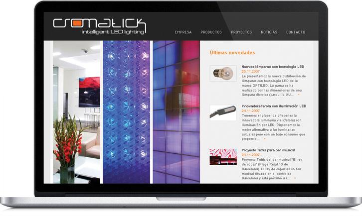 Disseny de la pàgina web Multimèdia per Cromatick