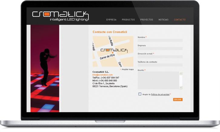 Diseno de la página Web Multimedia para Cromatick