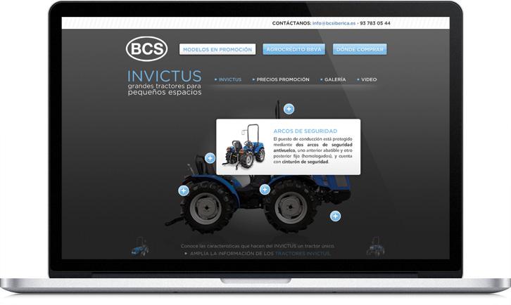 Disseny de la pàgina web de BCS