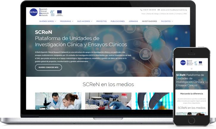 Disseny responsive de la pàgina Web per a SCReN